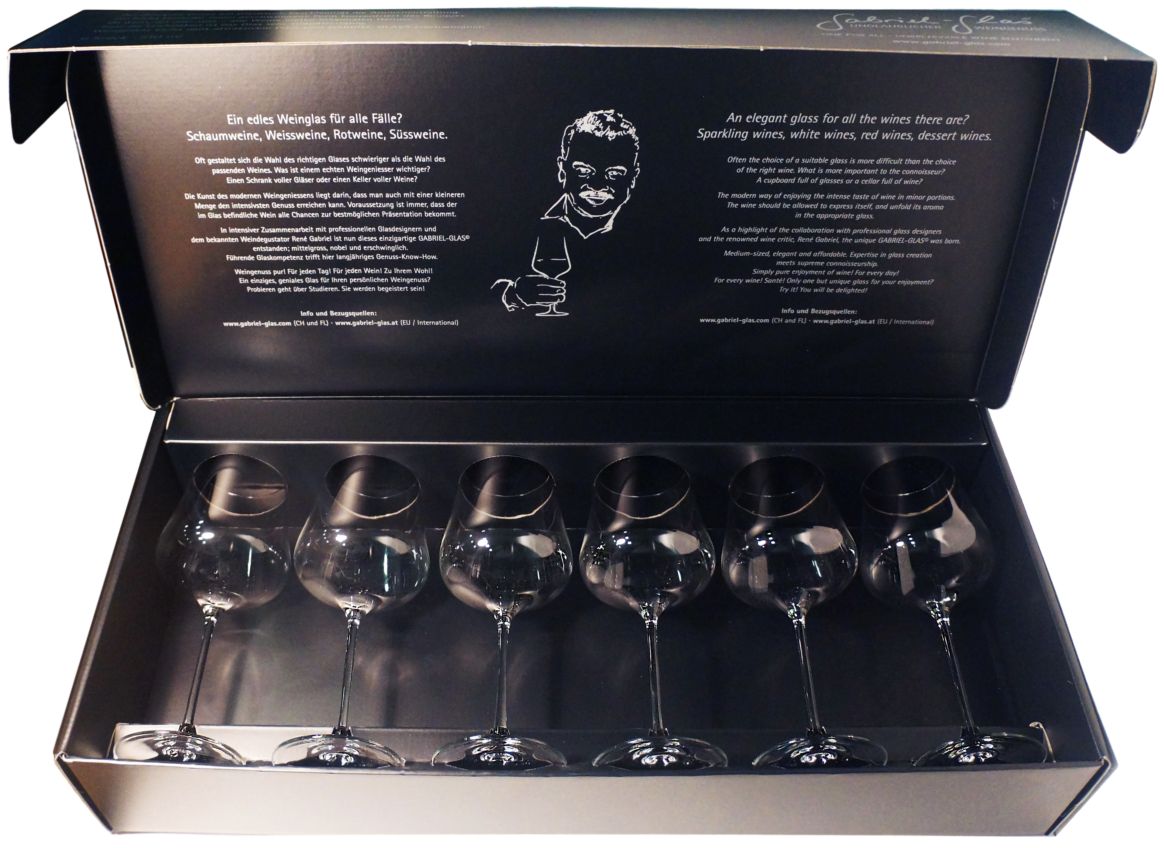 GABRIEL-GLAS, STANDART, SET OF 6 GLASSES (gift box)